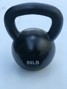 BRAND NEW 50LB VINYL DIPPED KETTLE BELL WEIGHT FOR COMMERCIAL GYM 100% IRON!