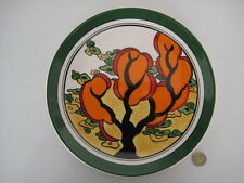 WEDGWOOD CLARICE CLIFF ORANGE ERIN ART DECO DESIGN LIMITED EDITION 10.25 CHARGER