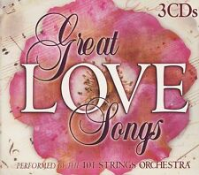 FREE US SHIP. on ANY 2+ CDs! ~Used,Good CD 101 Strings: Great Love Songs Box set
