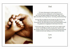 Personalised CHRISTMAS DAY Poem Gift - Beautiful present for your DAD