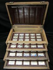 Franklin Mint Centennial Car Ingots Collection Sterling Silver Set 208oz