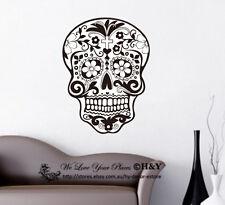 60x80cm Removable Skull Vinyl Wall Stickers Wall Decals Art Mural Decor Deco DIY