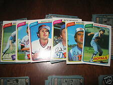 (10) 1980 Topps Lot - YOU PICK - FINISH YOUR SET - NMMT