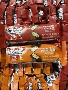 48 Premier Protein Bars - 20g Protein - Chocolate Caramel Choc Peanut Butter
