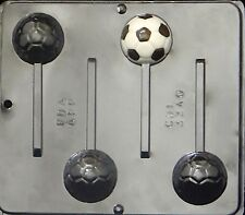 NEW 4 Cav Sports SOCCER BALL Chocolate Candy Fondant Plaster Clay Lollypop Mold