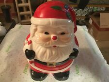 Santa Cermic Cookie Jar