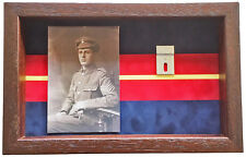 Large Royal Anglian Medal Display Case With Photograph For 2 Medals