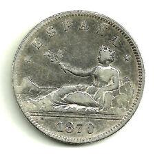 GOBIERNO PROVISIONAL. 2 PESETAS DE 1870(*18-74) MADRID DE-M (BC) PLATA