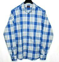 UNTUCKIT tall regular Long Sleeve Shirt Plaid Light Flannel men's size Large