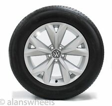 "4 2018 Volkswagen Atlas 18"" Silver Wheels Rims Continental Tires Free Shipping"