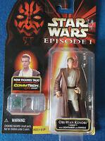 Star Wars collectable figure. Obi-Wan Kenobi with lightsaber. In original box.