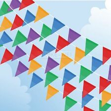 10 M Colorful Triangle Flag Pennant String Banner Festival Party Holiday Decor