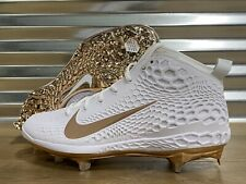 Nike Zoom Trout 5 Metal Baseball Cleats White Metallic Copper SZ ( AH3373-109 )