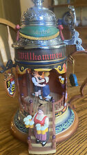 """New ListingVintage Enesco """"the Munich Beer Garden� Lighted Animated Music Box - Rare-Works!"""