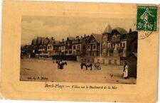 CPA BERCK - PLAGE  .- Villas sur le boulevard de la mer  (197612)