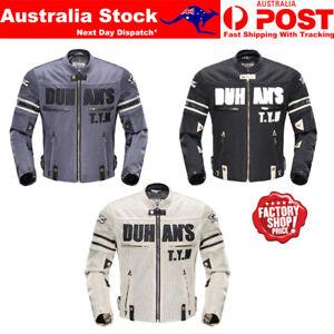 Mens Motorcycle Jacket Vented Mesh Motorbike Riding Jacket CE Armoured Jacket