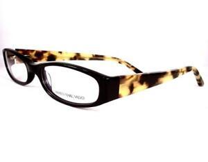 Carmen Marc Valvo Eyeglasses Nadia Black Tortuga Women Plastic 52-16-135