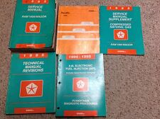 1995 DODGE RAM VAN WAGON Service Repair Shop Manual Set W Recalls + Supplement x