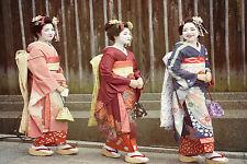 SPLENDIDA tela Giapponesi Geishe #862 A1 a Muro per Appendere Foto Art
