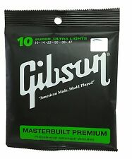 Gibson strings 10 Super Ultra Lights Masterbuilt Premium Acoustic Guitar Strings