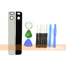 Black Rear Back Camera Glass Lens Cover w/ Adhesive for Huawei Ascend P8 + Tools