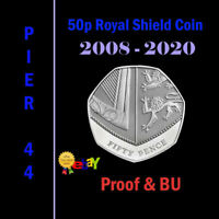 Royal Shield 50p Fifty Pence Coins 2008-2020 PROOF & BU/BUNC ONLY - Coin Hunt