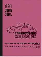 FIAT 500 B C TOPOLINO RICAMBIO elenco Catalogo parti di ricambio Spare Parts Catalogue
