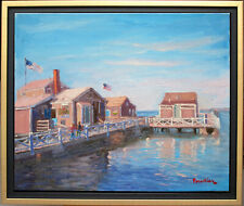 SEASCAPE IN NANTUCKET~LISTED ARTIST~ORIGINAL OIL PAINTING BY MARC FORESTIER