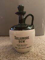 Vintage Tullamore Dew Finest Irish Whiskey Jug Bottle 750ml Import Ireland EMPTY