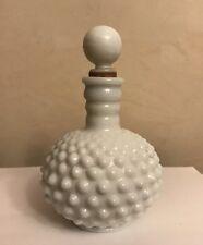 Vintage Fenton Hobnail Milk Glass Perfume Bottle