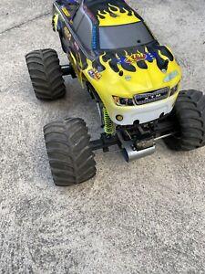 XTM X factor 1/8 Nitro Monster Truck Excellent Condition Rare 4 Wheel Steer RC