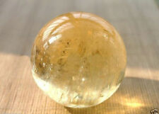 Natural 40mm Citrine Quartz Crystal Sphere Ball Healing Gemstone+Stand Decor New