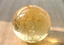 40mm Natural Quartz Citrine Crystal Sphere Ball Healing GEMSTONE Stand Ornament