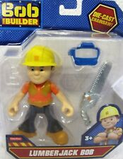 "Fisher Price Bob The Builder 5"" Lumberjack Bob die de protection Cast Chainsaw VISO"