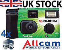 4 Pack: Fuji Quicksnap Single use flash camera X-tra ASA400 27exp film camera