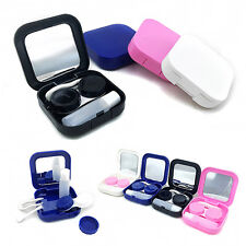 BA_ PORTABLE CONTACT LENS CASE CONTAINER TRAVEL KIT SET HOLDER MIRROR BOX USEFUL