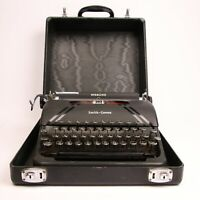 Smith-Corona Sterling Portable Manual Typewriter With Case #4A113488 TESTED