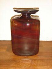 Rare LAVA vase 20½ cm. Large & heavy PER LUTKEN 1970 Holmegaard signed