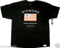Diamond Supply Co. T Shirt Founders Tee Royal Black 100%  Cotton Diamond Supply