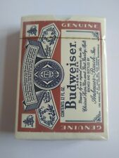 Budweiser Bridge Size Plastic Coated Playing Cards Sealed Package