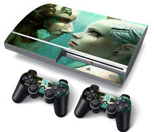 PS3 Original PlayStation 3 Skin Stickers PVC for Console & 2 Pads Cyborg Red EyE