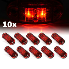 10x LED SIDE MARKER LIGHTS INDICATOR PIRANHA LAMP TRAILER TRUCK 12V OUTLINE RED