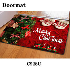 Christmas Doormat Floor Rug Anti-slip Bath Mat Indoor Porch Welcome Carpet
