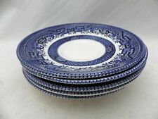 Churchill of England - Blue Willow - set/lot of 4 Saucers only, no cups - EUC