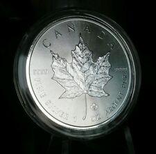2014 CANADA CANADIAN SILVER MAPLE LEAF 1 oz COIN .9999 $5 BU UNC Free Airitite