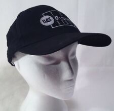 Caterpillar The Rental Store Ball Cap Adjustable Black Embroidered