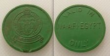 Collectables Green Plastic Token / N.A.A.F.I Egypt / Navy Army & Air Force