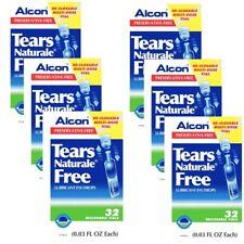 6X Tears Naturale Alcon Free Lubricant Eye Drops 6X32=192 Vials EXP. 2019
