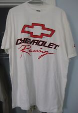 CHEVROLET RACING WHITE T-SHIRT SIZE XL NEW WITH TAG