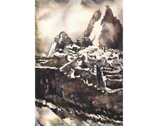 Machu Picchu ruins- fine art watercolor painting (print)